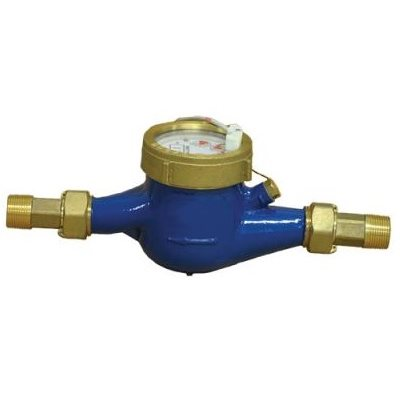 "3 / 4"" FLOW MTR - BRASS - 10 PULSES / GAL - 0.25-20 GPM"