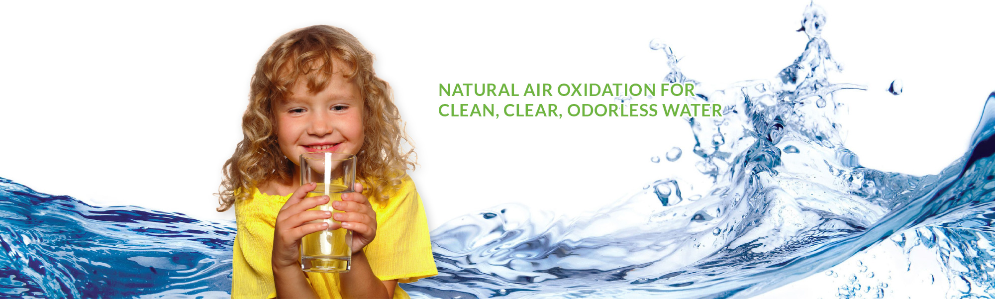 Natural air oxidation for clean, clear, odorless water